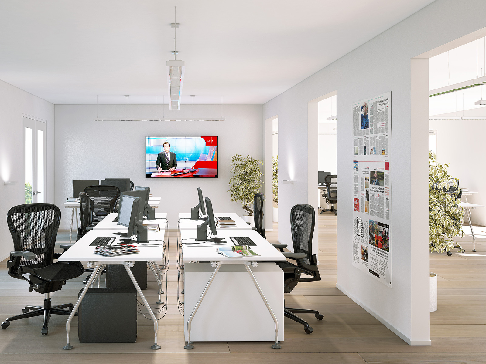 interieurvisualisatie modern kantoor DWanimation