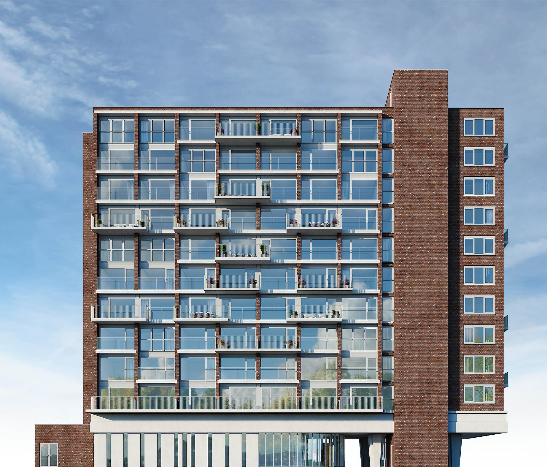 exterieur visualisatie DWanimations appartementencomplex