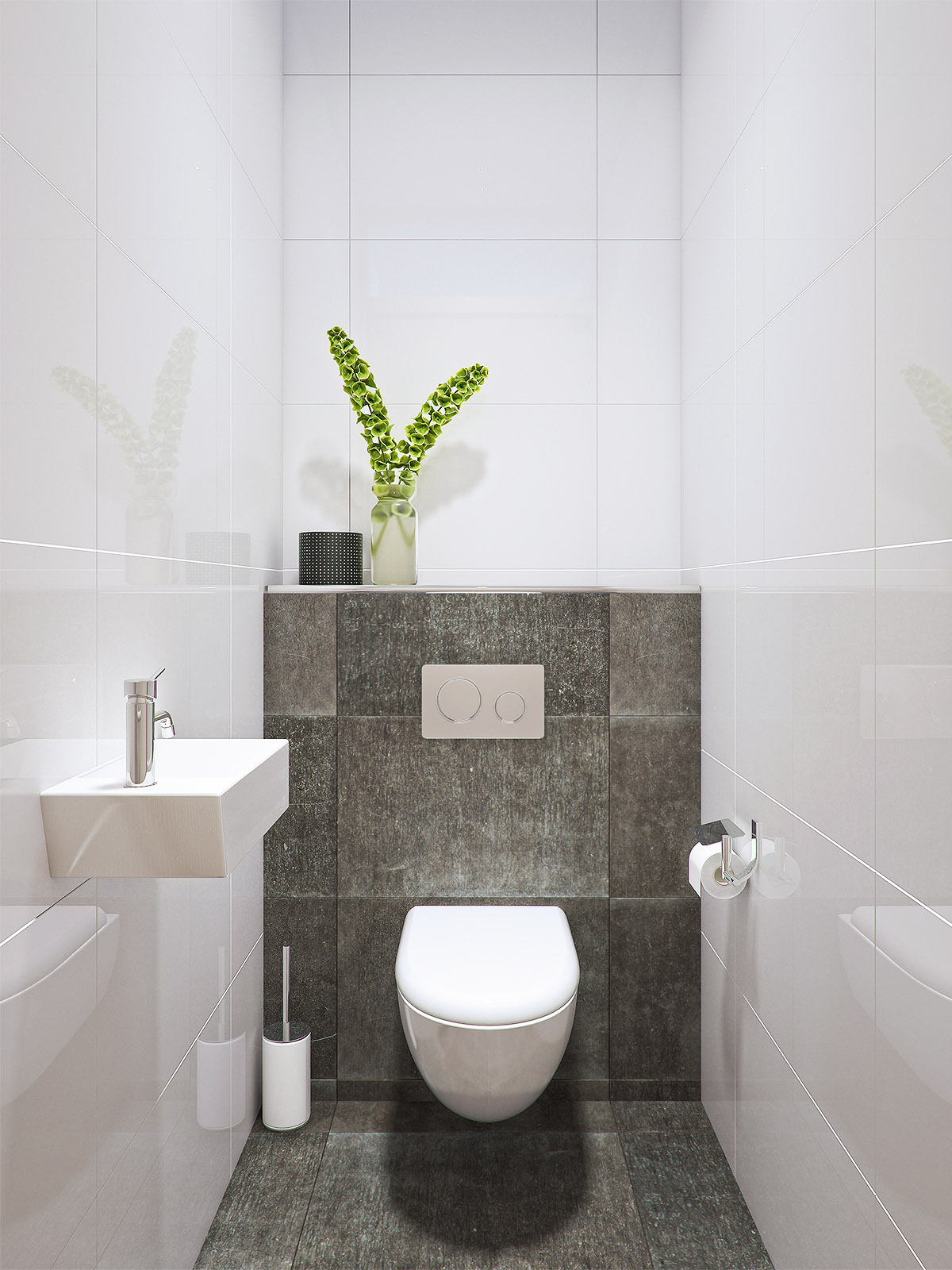 Toilet DWanimations detailvisualisatie