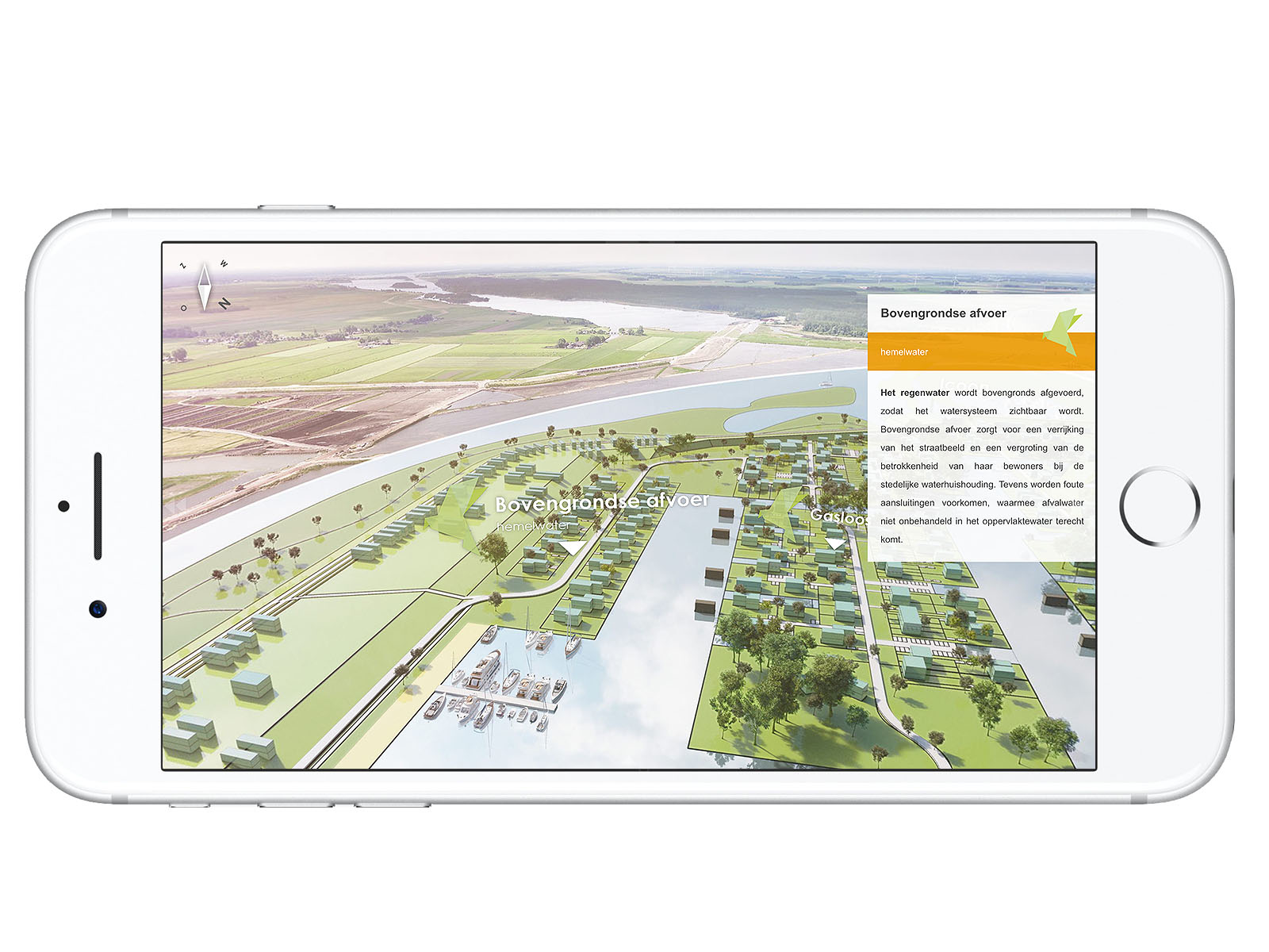 aerial view DWanimations gebiedsontwikkeling