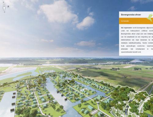 Aerial view interactieve gebiedspresentatie