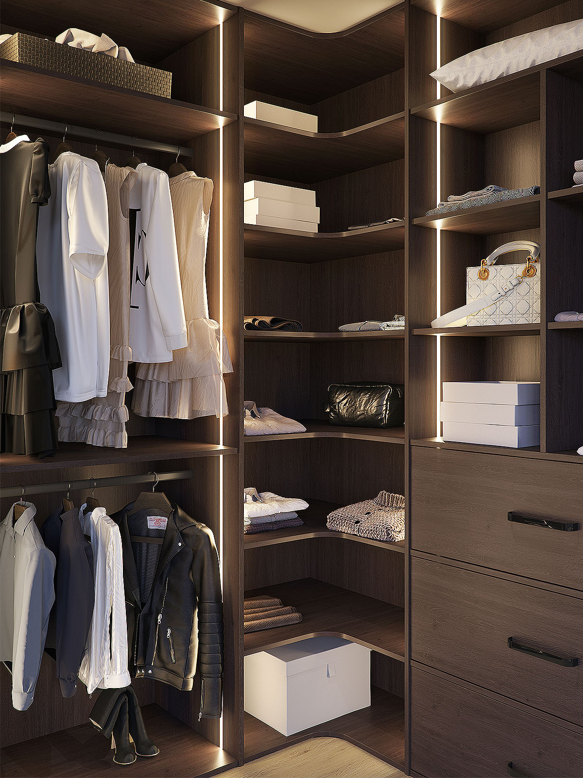 closet-with-clothes-wood-dark